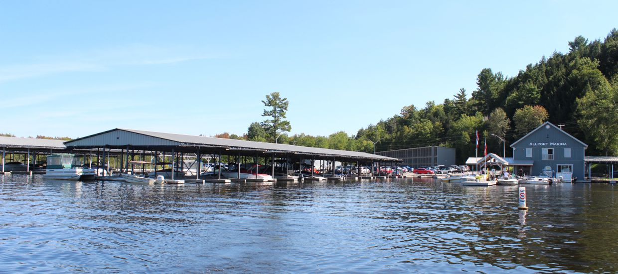 Allport Marina Store and Dock on Lake Muskoka